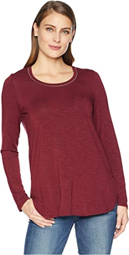 Long Sleeve Top with Chest Pocket