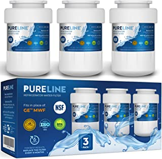 GE MWF Water Filter Replacement. Compatible GE Models: MWF, MWFA, MWFP, MWFAP, MWFINT, GWF, GWFA, HWF, HWFA, FMG-1, SmartWater, GSE25GSHECSS, 197D6321P006 -by PURELINE (3 Pack)