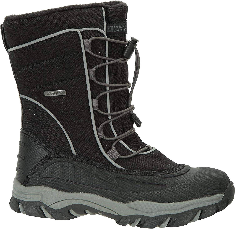 Zapatos Impermeables Mountain Warehouse Botas de Nieve para ni/ños Park Youth: Transpirables Secado r/ápido con Alta tracci/ón Paneles Superiores de Textil