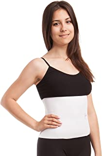 GABRIALLA Unisex Breathable Abdominal/Back Support Binder AB-309: White XX-Large