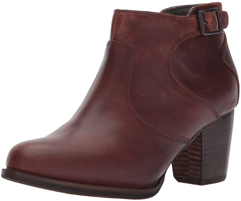 アレイしない包帯[Caterpillar] レディース Trestle WP leather ankle bootie with side zip abd stacked heel