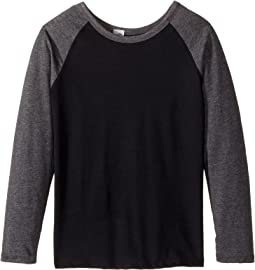 4Ward Clothing Long Sleeve Raglan Shirt - Reversible Front/Back (Little Kids/Big Kids)