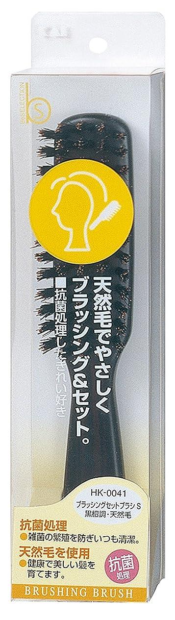 すずめ不当単調な貝印 Beセレクション ブラッシングセットブラシ S 黒檀 HK0041
