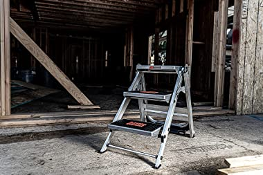 Little Giant Ladders, Safety Step, 3-Step, 3 Foot, Step Stool, Aluminum, Type 1A, 300 lbs Weight Rating, (10310BA)