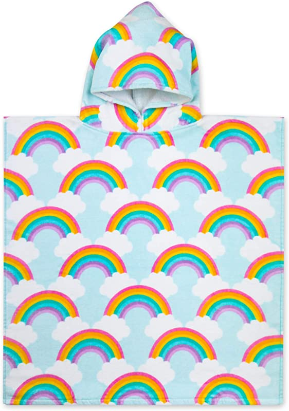 Baba Bear Hooded Towel For Kids Swimsuit Cover Up For Beach Pool Bath Rainbow