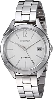 Women's 'Drive' Quartz Stainless Steel Casual Watch, Color:Silver-Toned (Model: FE6140-54A)