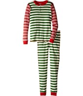 Hatley Kids - Holiday Stripe Henley Pajama (Toddler/Little Kids/Big Kids)
