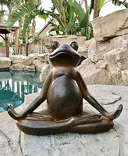 meditating zen frog statue