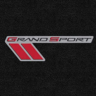 Lloyd Mats - LUXE Ebony Front Floor Mats For Corvette Grand Sport 2010-13 with Red and Silver Grand Sport Applique