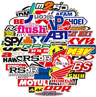 100PCS Racing Stickers Dirtbike Automotive Sticker Pack Car Brand Logo Vinyl Stickers Auto Waterproof Stickers and Decals ...