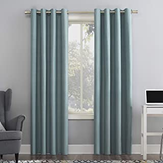 """Sun Zero Duran Thermal Insulated 100% Blackout Grommet Curtain Panel, 50"""" x 95"""", Mineral"""