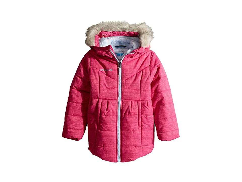 Columbia Kids Crystal Cavestm Mid Jacket (Little Kids/Big Kids) (Cactus Pink Texture Print/Faded Sky) Girl