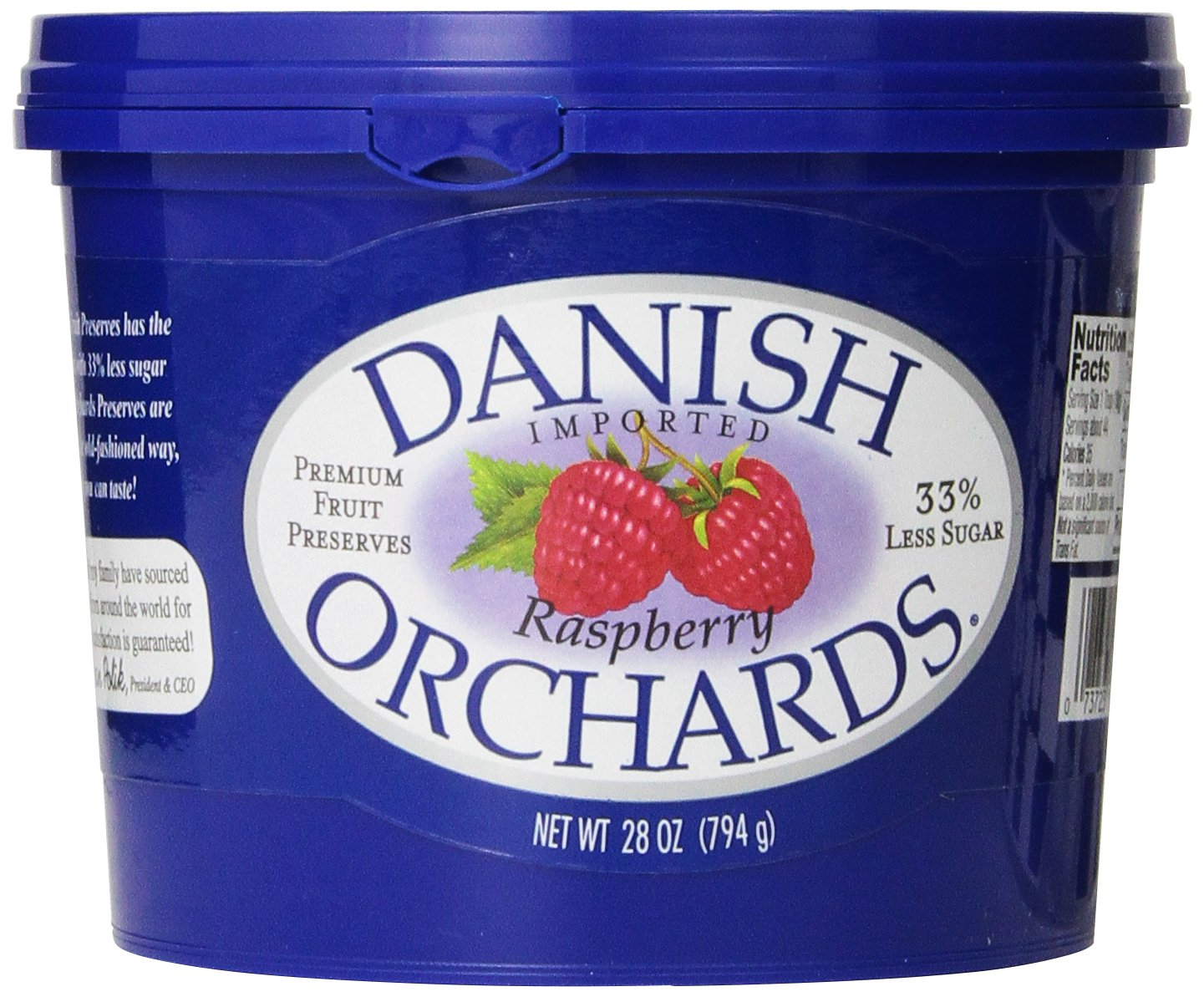Danish Orchards Preserves Raspberry 28 famous Ounce Pack of Spasm price 12