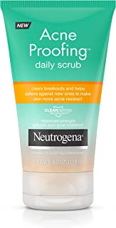 Neutrogena Acne Proofing Daily Facial Scrub with Salicylic Acid Acne Treatment, Exfoliating and Cleansing Face Wash, Oil-Free, 4.2 oz