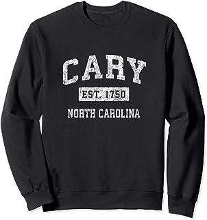 Cary North Carolina NC Vintage Established Sports Design Sweatshirt