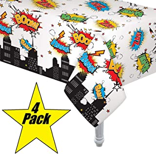 4 Pack Superhero Plastic Table cover 54
