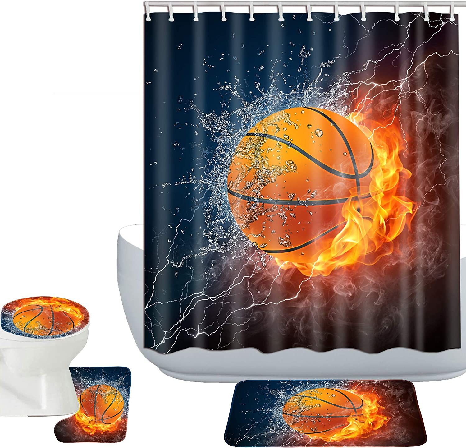 Branded High order goods Amagical Basketball on Fire and Water in Flame Design Enveloped