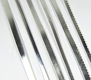 Bezel Wire Variety Pack 3/16 and 1/8 ,Fine Silver 99.9 One Ft Each Total 6 Feet of Cabing Fun, Plain, Serrated, Scalloped