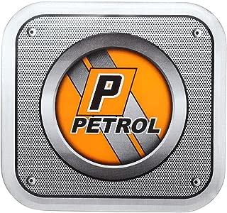 Sepia Universal Car Fuel Badge Sticker (Orange and Grey)