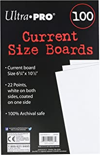 Ultra Pro Current Size Boards, 6.75 X 10.5 (100 Count Pack)