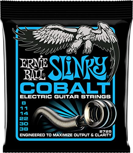 Ernie Ball 2725 Cobalt Extra Slinky Jeu de cordes pour guitare électrique 8-38