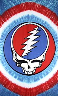 Sunshine Joy Grateful Dead Patriotic Steal Your Face Tie-Dye Tapestry Wall Art Beach Sheet Huge 60x90 Inches