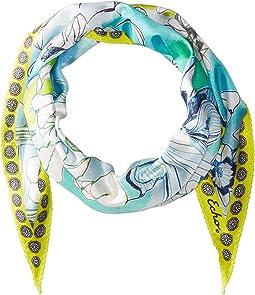 Echo Design Seaside Floral Silk Diamond Shape Scarf