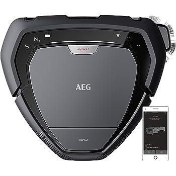 AEG RX9-2-4ANM Robot Aspiradora Visión 3D, Cepillo Motorizado Ancho de 22cm, Batería 40min, Gran Filtración,Escala 2,2cm, 75dB,Display LED,WiFi, APP,Autonomía: 70 min (Carga 60 min) - Serie 2,0.7L,Gris: Amazon.es: Hogar