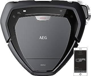AEG RX9-2-4ANM Robot Aspiradora Visión 3D, Cepillo Motorizado Ancho de 22cm,Batería 40min, Gran Filtración,Escala 2,2cm, 7...