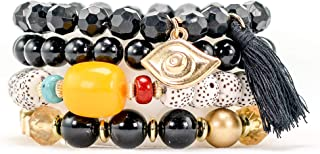 Jewelry Bracelet for Women: Wrap Style with Beads & Charms