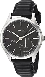 Timex Mens IQ+ Move Activity Tracker Leather Strap Smart Watch