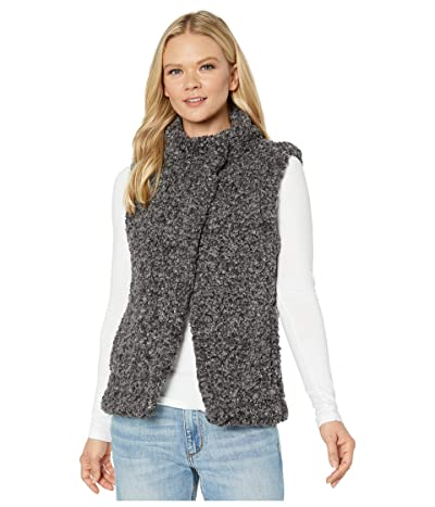 Dylan by True Grit Faux-Shearling Pile Cozy Vest with Soft Knit Lining (Charcoal) Women