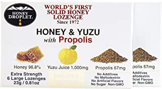 Twin Pack Honey in a solid form combined with functional ingredient propolis and unique yuzu juice no added sugar no malto...
