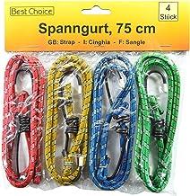 Sterk elastiek 16 stuks - 1 set = 4 stuks. - 75 cm lang - 5,2 mm dik - met elk 2 metalen haken