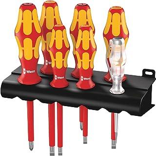 Wera 160 i/165 i/7 VDE Kraftform Lasertip screwdriver Set, SL/PZ, 7pc, 05006148001