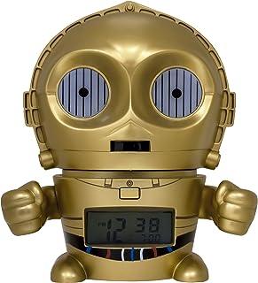 BulbBotz Despertador Infantil C3PO, Dorado, 8.89x12.7x13.97
