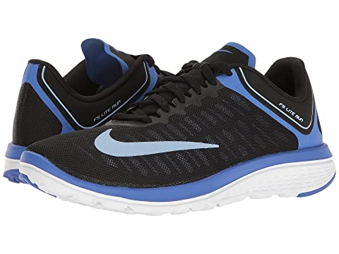 Nike FS Lite Run 4 Women's Running Shoes Black/Aluminum/Meduim Blue/White
