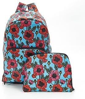 Eco-Chic Pliable Extensible Sac à dos Noir Nouveau Floral Scotty Chien Pliable