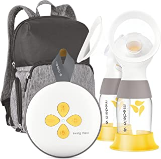 Sponsored Ad - Medela Swing Maxi Double Electric Breast Pump, Portable Breast Pump, USB-C Rechargeable, Bluetooth, Closed ...