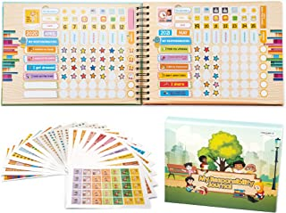 Think Professor's My Responsibility Journal - Behavior and Chores Chart Sticker Book for Kids (Also a Kid's First Calendar...