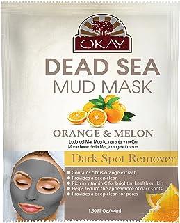 OKAY | Dead Sea Mud Mask - Orange & Melon | For All Skin Types | Dark Spot Remover | Nourish | Replenish | 1.5 oz