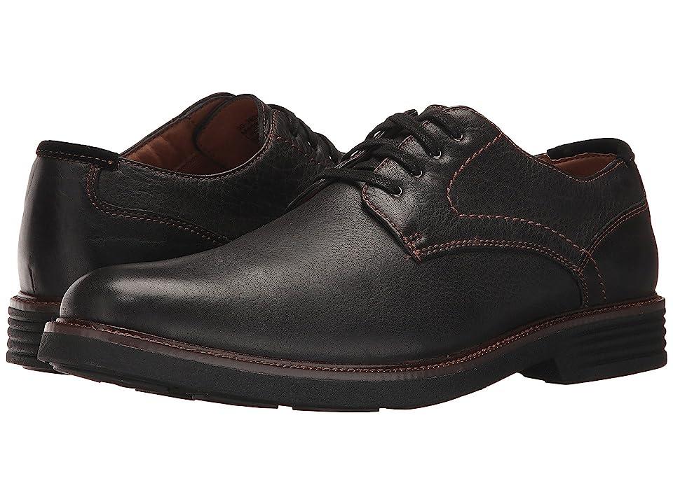 Dockers Parkway Plain Toe Oxford (Black Soft Tumbled Full Grain) Men
