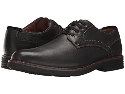 Dockers Parkway Plain Toe Oxford (Black Soft Tumbled Full Grain) Men