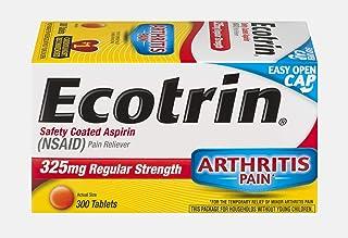 Ecotrin Regular Strength Safety Coated Aspirin   Arthritis Pain   300 Tablets