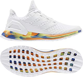 adidas RapidaRun J White/Royal Blue Synthetic Junior Trainers Shoes