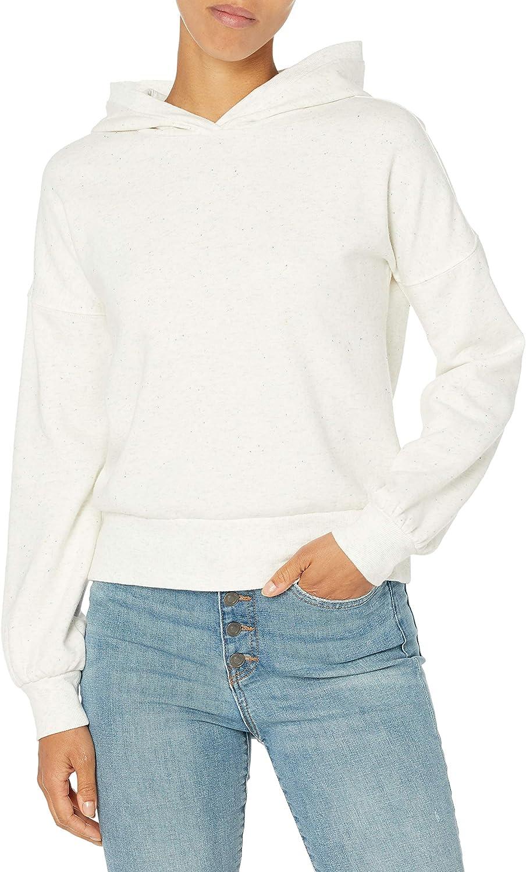 Amazon Brand - Goodthreads Women's Heritage Fleece Cropped Long Sleeve Hoodie Sweatshirt