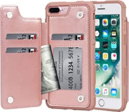 Sponsored Ad - Arae Case for iPhone 7 Plus/iPhone 8 Plus - Wallet Case with PU Leather Card Pockets [Shockproof] Back Flip...