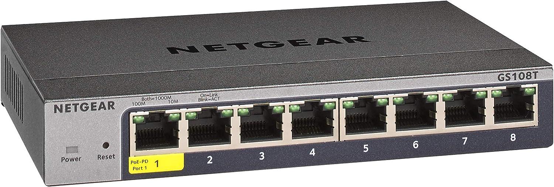 NETGEAR 8-Port Dallas Mall Gigabit Ethernet Max 67% OFF Smart Managed - Switch GS108T