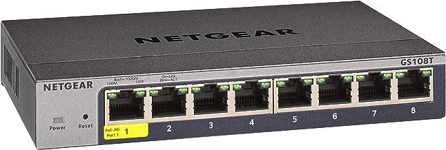 NETGEAR 8-Port Gigabit Ethernet Smart Managed Pro Switch (GS108T) - Desktop