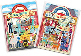 Melissa & Doug Puffy Sticker Activity Books Set: Cool Careers and Pet Place
